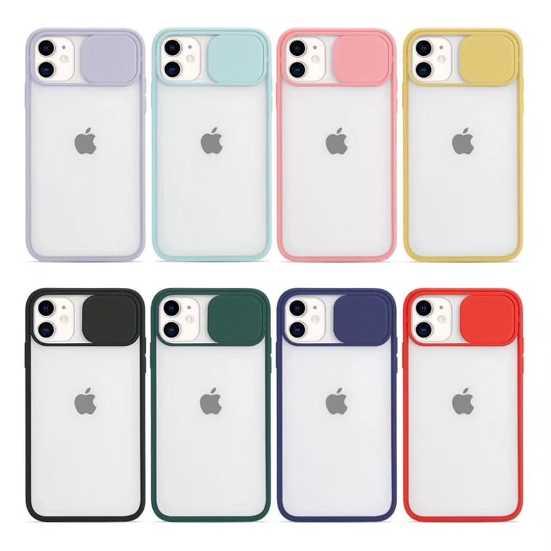 Transparent Iphone Case soft camera cover and lens for Iphone X and XS Green - 2
