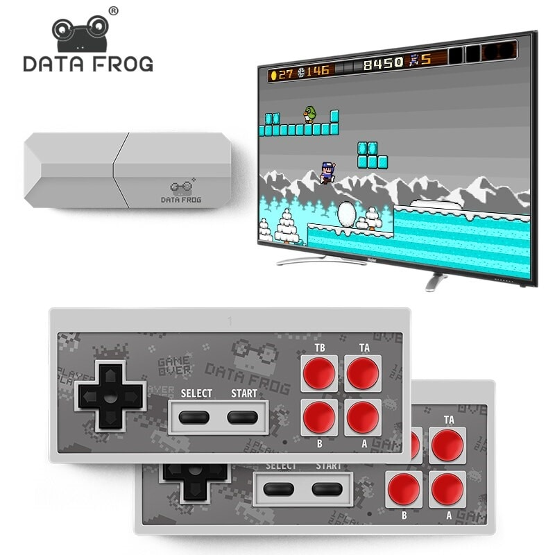 USB Wireless Handheld TV Video Game Console Build In 600 Classic Game - 1