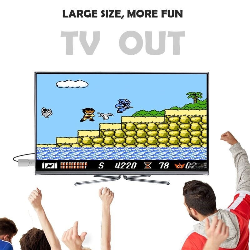 USB Wireless Handheld TV Video Game Console Build In 600 Classic Game - 2
