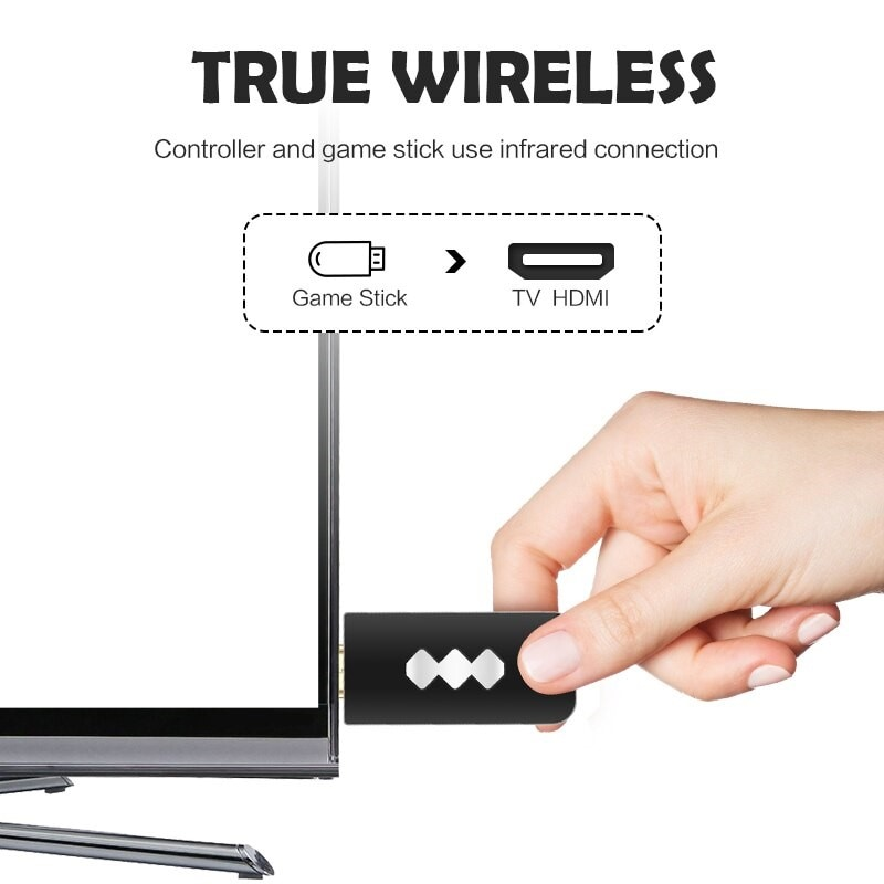 USB Wireless Handheld TV Video Game Console Build In 600 Classic Game - 3