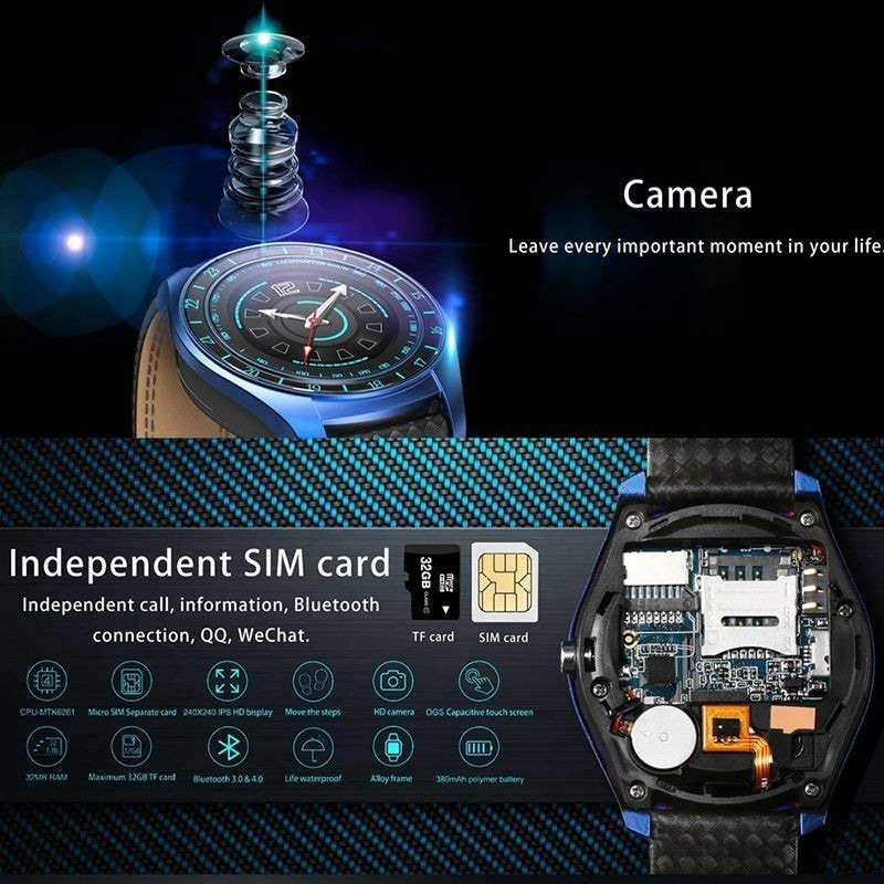 V10 Waterproof Sport Smart Watch - Blood Pressure Heart Rate Monitor for iOS Android Blue - 11