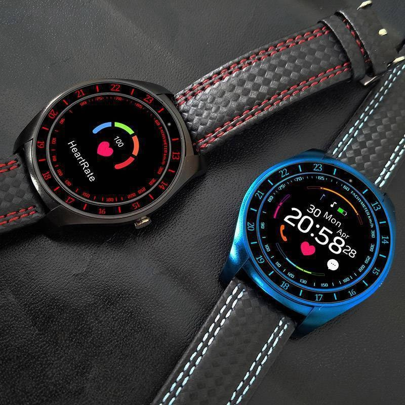 V10 Waterproof Sport Smart Watch - Blood Pressure Heart Rate Monitor for iOS Android Blue - 2