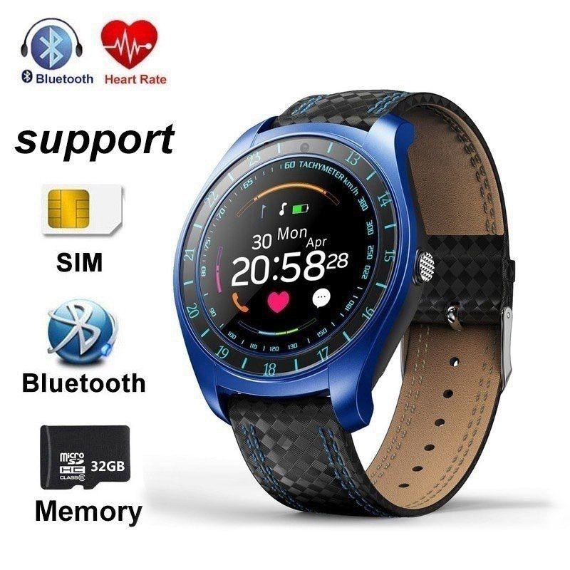 V10 Waterproof Sport Smart Watch - Blood Pressure Heart Rate Monitor for iOS Android Blue - 8