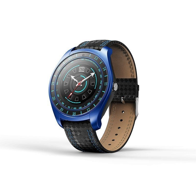 V10 Waterproof Sport Smart Watch - Blood Pressure Heart Rate Monitor for iOS Android Blue - 4