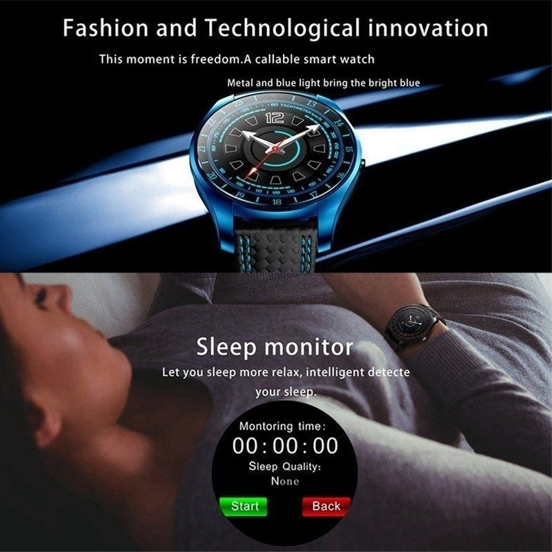 V10 Waterproof Sport Smart Watch - Blood Pressure Heart Rate Monitor for iOS Android Blue - 12