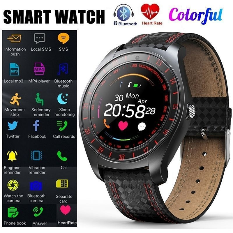 V10 Waterproof Sport Smart Watch - Blood Pressure Heart Rate Monitor for iOS Android Red - 7