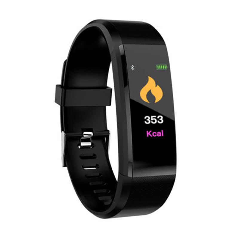Waterproof Bluetooth Smart Watch - Heart Rate Blood Pressure Monitor Fitness Tracker Bracelet in Black - 1