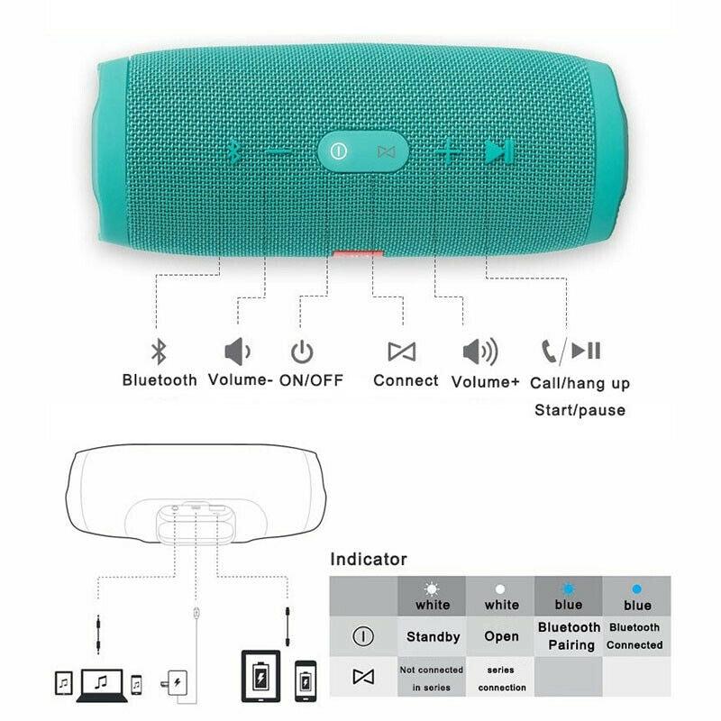 Waterproof Portable Bluetooth Speaker Wireless Bass Subwoofer Camouflage - 3