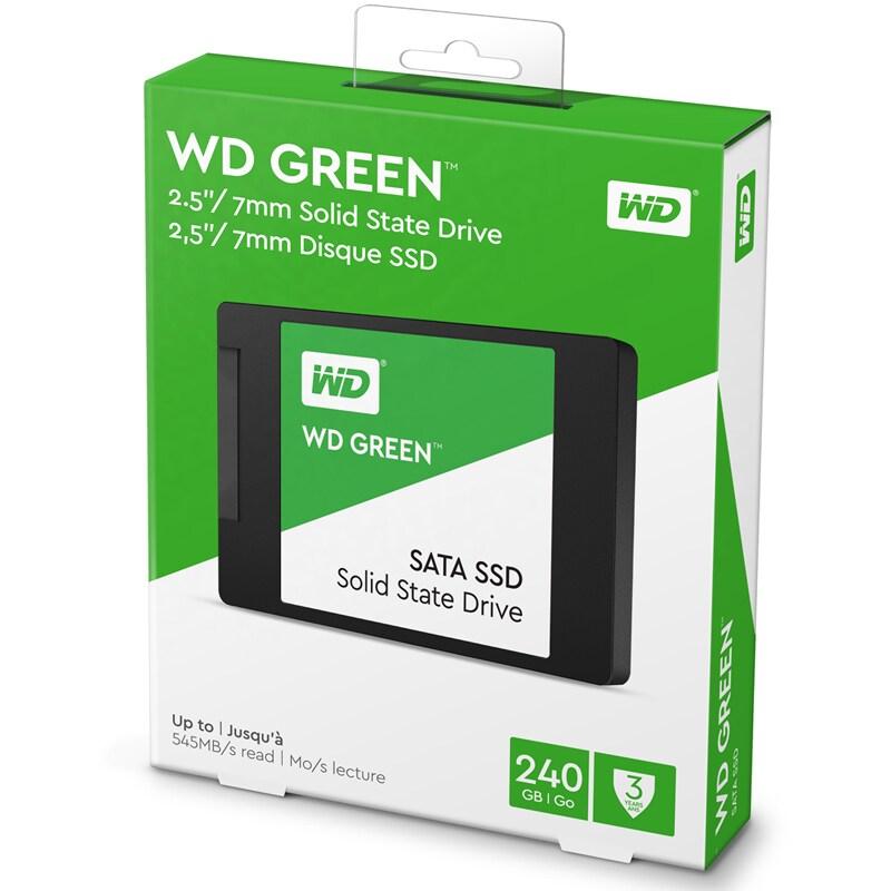 WD Green 2.5Inch 240GB SATA3 SSD 540MB/s Read 2.5inch/7mm - 4