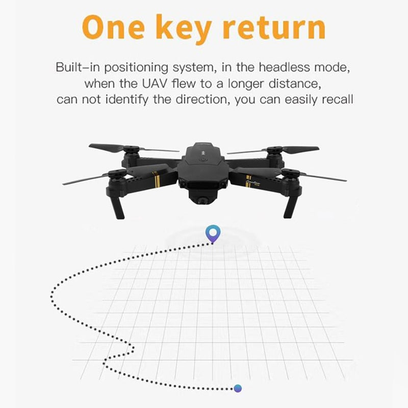 WIFI FPV with Wide Angle HD Camera High Hold Mode Foldable Arm RC Quadcopter - 2
