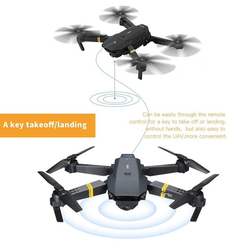 WIFI FPV with Wide Angle HD Camera High Hold Mode Foldable Arm RC Quadcopter - 4
