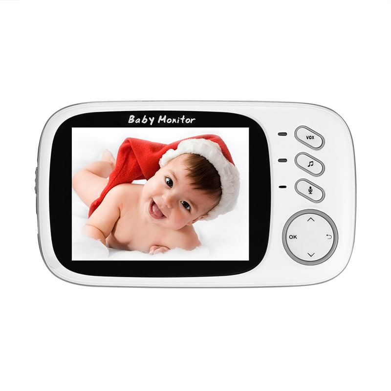 Wireless Baby Monitor - 3.2 Inch Display, Temperature Monitor, Dual-Way Audio, 2.4GHz Wireless, Play Songs - 5