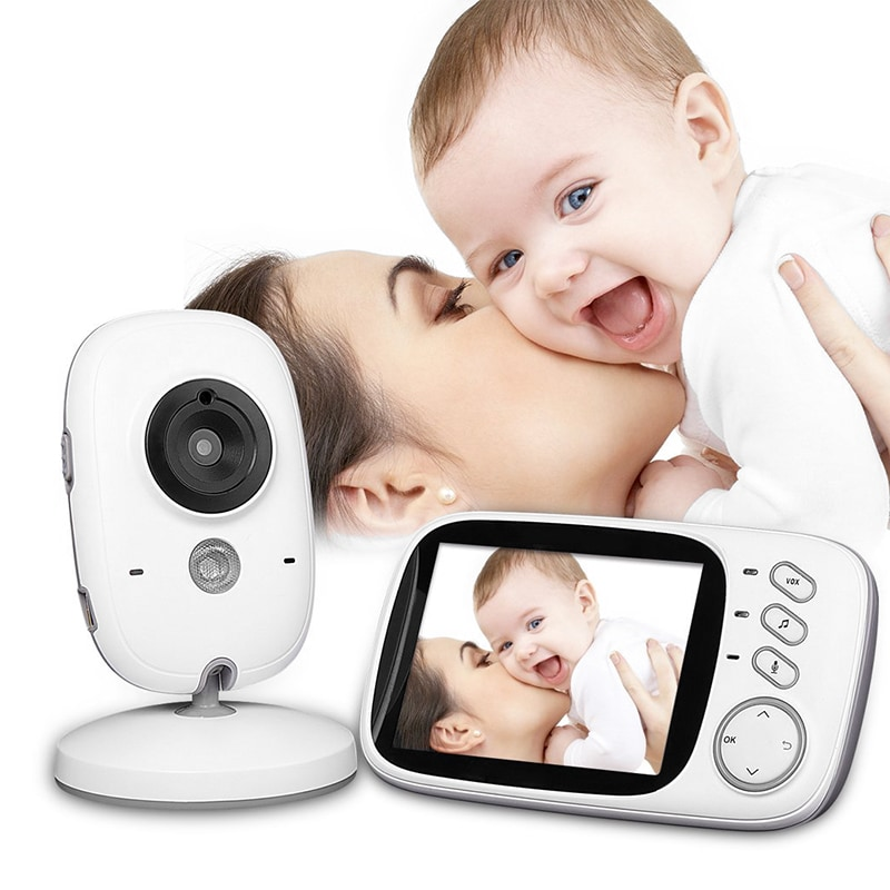 Wireless Baby Monitor - 3.2 Inch Display, Temperature Monitor, Dual-Way Audio, 2.4GHz Wireless, Play Songs - 4