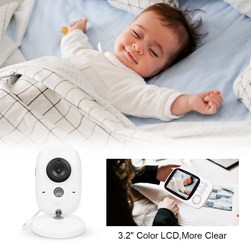 Wireless Baby Monitor - 3.2 Inch Display, Temperature Monitor, Dual-Way Audio, 2.4GHz Wireless, Play Songs - 11