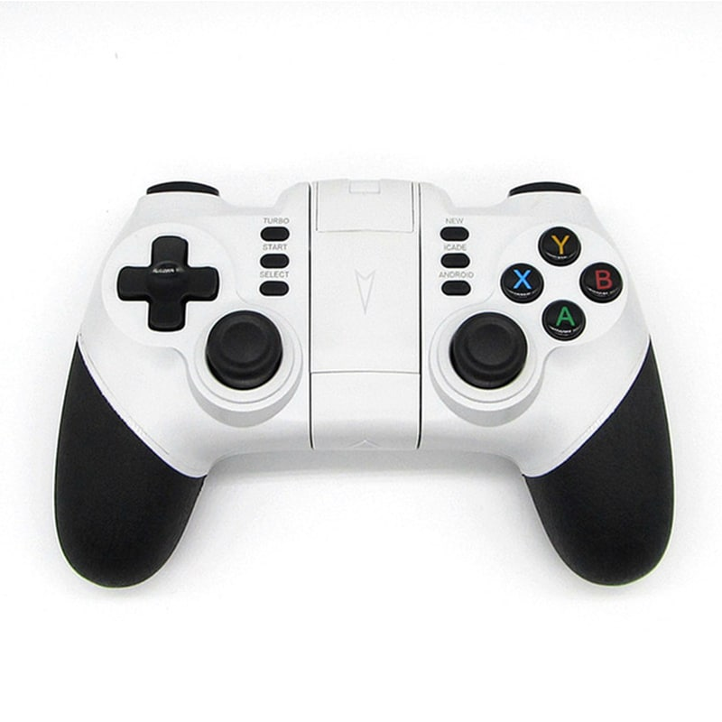 Wireless Bluetooth Game Controller for iPhone Android Phone Tablet PC Gaming White - 1
