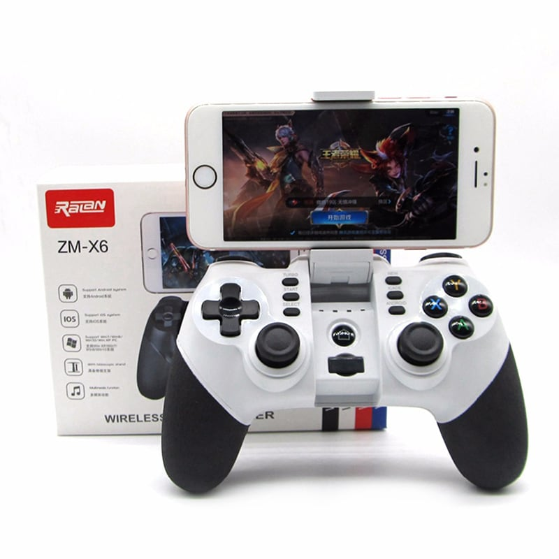 Wireless Bluetooth Game Controller for iPhone Android Phone Tablet PC Gaming White - 3