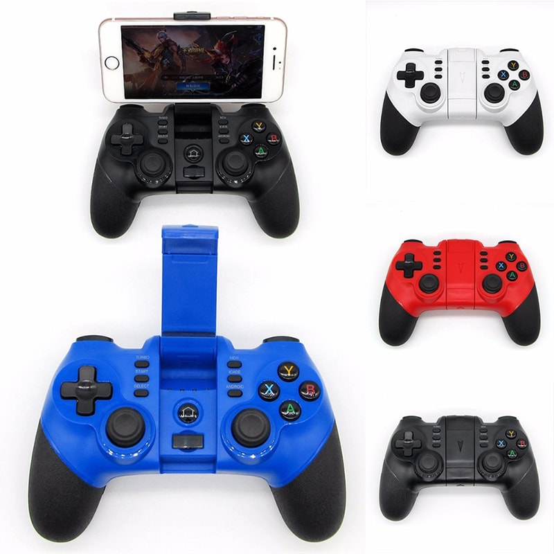 Wireless Bluetooth Game Controller for iPhone Android Phone Tablet PC Gaming White - 2