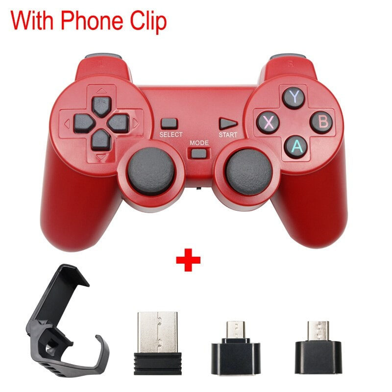 Wireless Controller 2.4G USB For PS3, Android Phone, PC, PS3, TV Box Red - 1