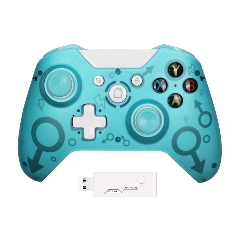 Wireless Controller For Xbox One PC and Android Smartphones Gamepad Blue - 1