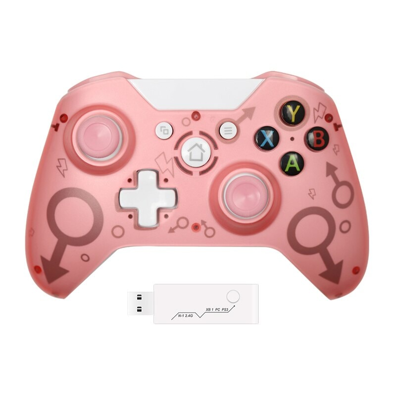 Wireless Controller For Xbox One PC and Android Smartphones Gamepad Pink - 1