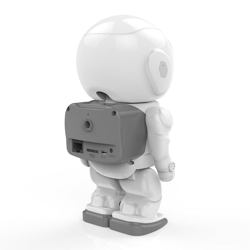 Wireless IP Camera - Robot Shaped, Pan & Tilt, 1280x960, Two-Way Audio, Phone App, Alarm Notification - 5
