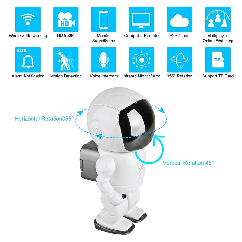 Wireless IP Camera - Robot Shaped, Pan & Tilt, 1280x960, Two-Way Audio, Phone App, Alarm Notification - 10