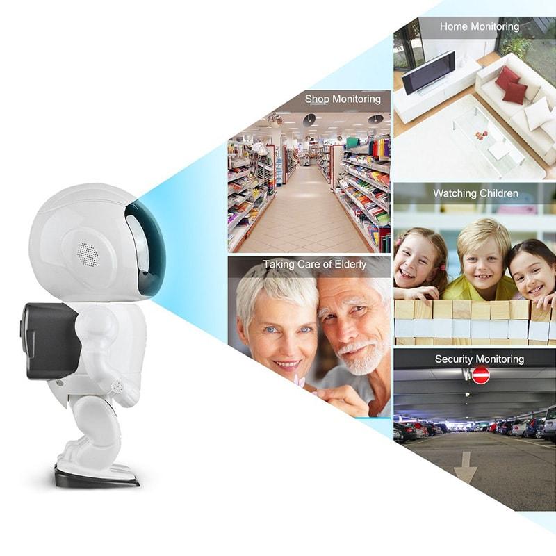 Wireless IP Camera - Robot Shaped, Pan & Tilt, 1280x960, Two-Way Audio, Phone App, Alarm Notification - 8
