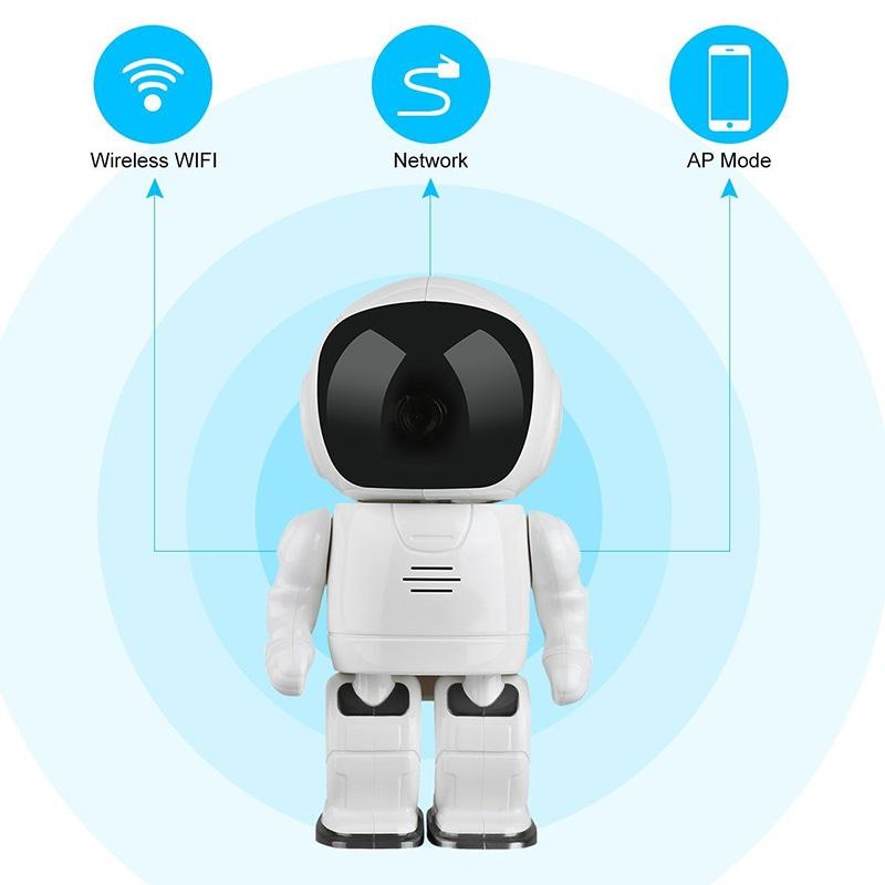 Wireless IP Camera - Robot Shaped, Pan & Tilt, 1280x960, Two-Way Audio, Phone App, Alarm Notification - 9