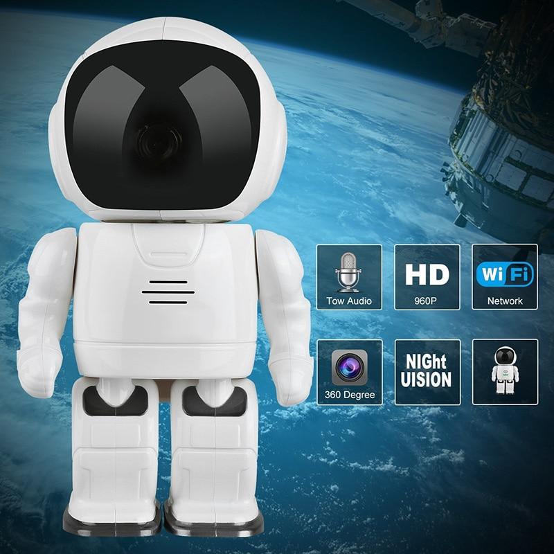 Wireless IP Camera - Robot Shaped, Pan & Tilt, 1280x960, Two-Way Audio, Phone App, Alarm Notification - 1