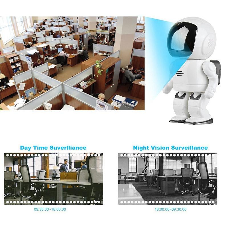 Wireless IP Camera - Robot Shaped, Pan & Tilt, 1280x960, Two-Way Audio, Phone App, Alarm Notification - 7