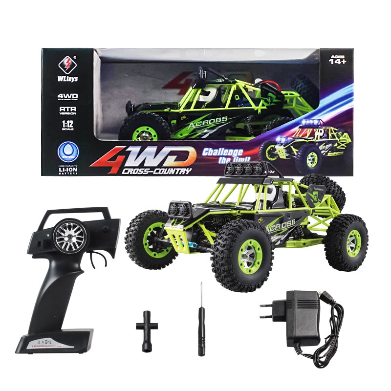 WLtoys 12428 1:12 4WD Crawler RC Car Electric Four-wheel Drive Climbing RC Car with LED Light RTR - 3