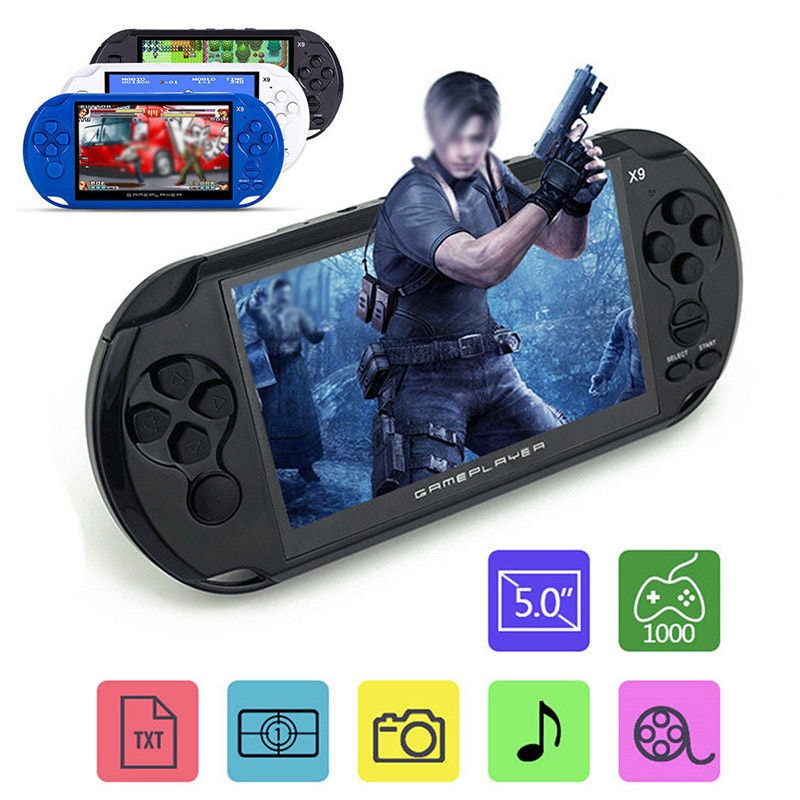 X9 5'' Handheld Video Game Console Retro Player Portable 32/64 Bit Games+ Cable PC White - 1