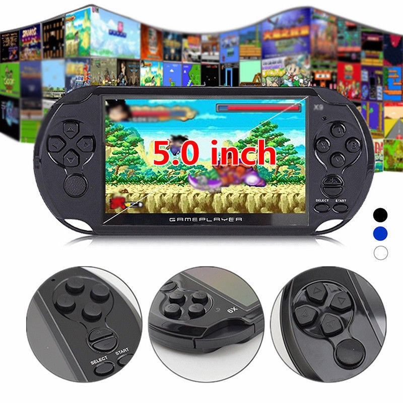X9 5'' Handheld Video Game Console Retro Player Portable 32/64 Bit Games+ Cable PC White - 3