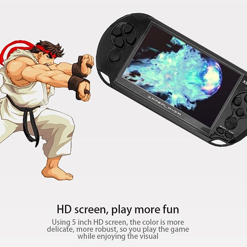 X9 5'' Handheld Video Game Console Retro Player Portable 32/64 Bit Games+ Cable PC White - 7