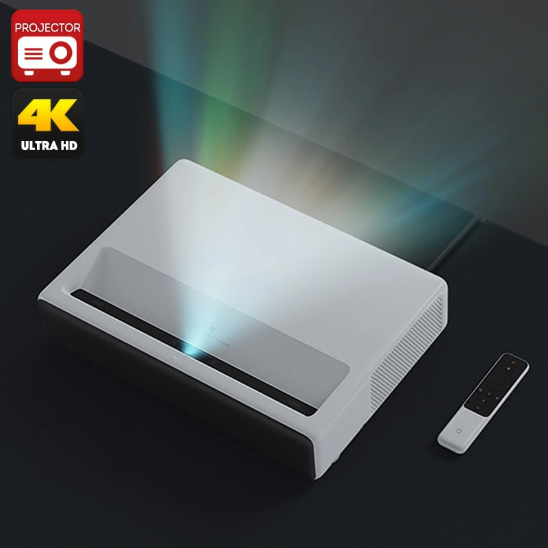 Xiaomi Mi Laser Projector English Version- 1080p Native Resolution, 4K Support, ALPD 3.0 Laser Light Source - 1