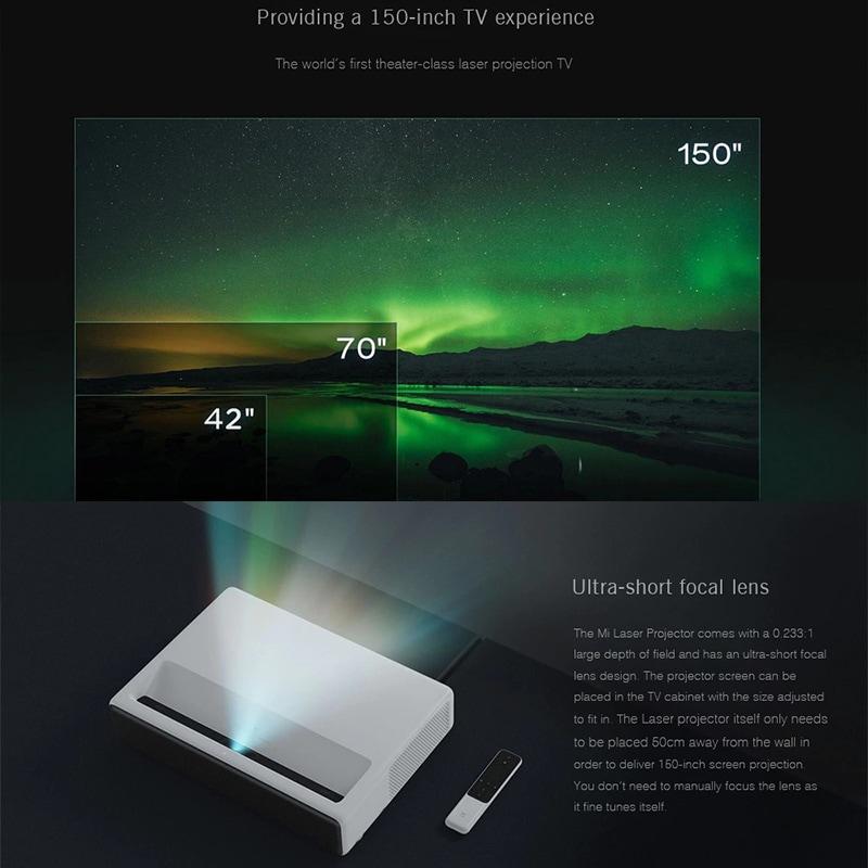 Xiaomi Mi Laser Projector English Version- 1080p Native Resolution, 4K Support, ALPD 3.0 Laser Light Source - 3