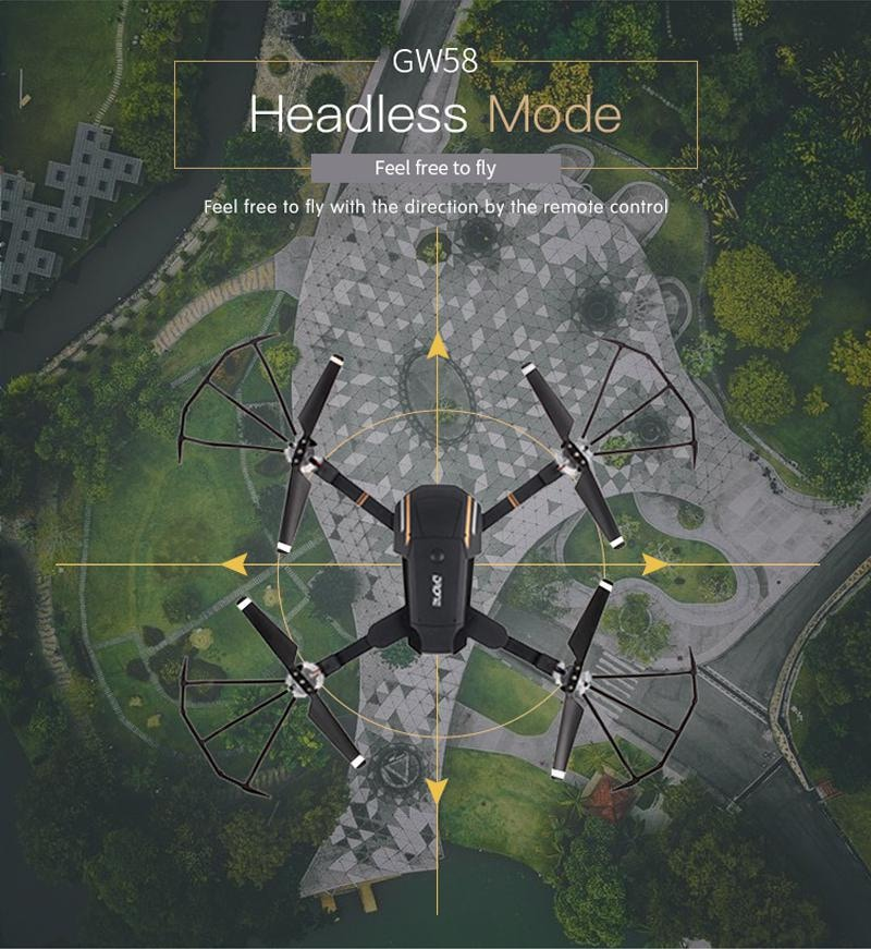 Folding Selfie Drone GW58/XT-1 with HD Camera Headless Mode Hover Quadcopter - 7