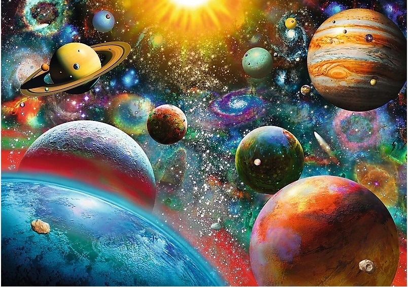 Puzzle - Kosmos - 1000 el. Multi-Colored - 2