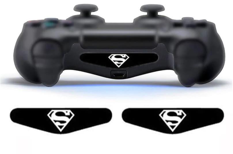 2 pcs LED Skin Stickers Superman Playstation 4 - 1