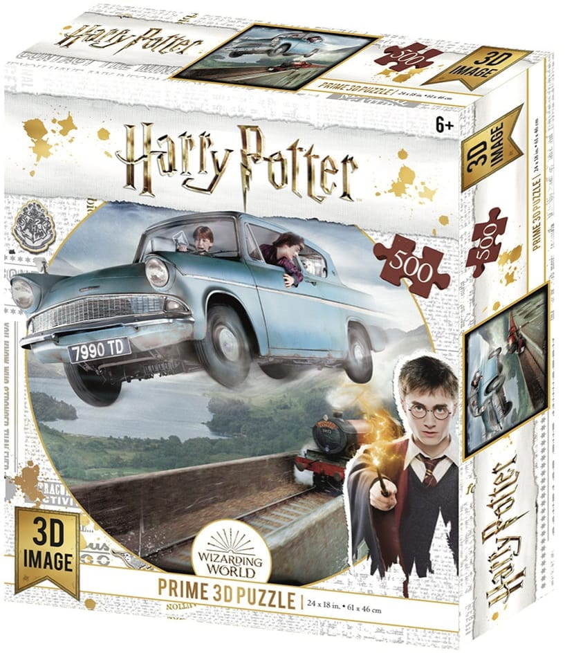 Harry Potter: Magiczne puzzle - Ford Anglia (500 elementów) - 1