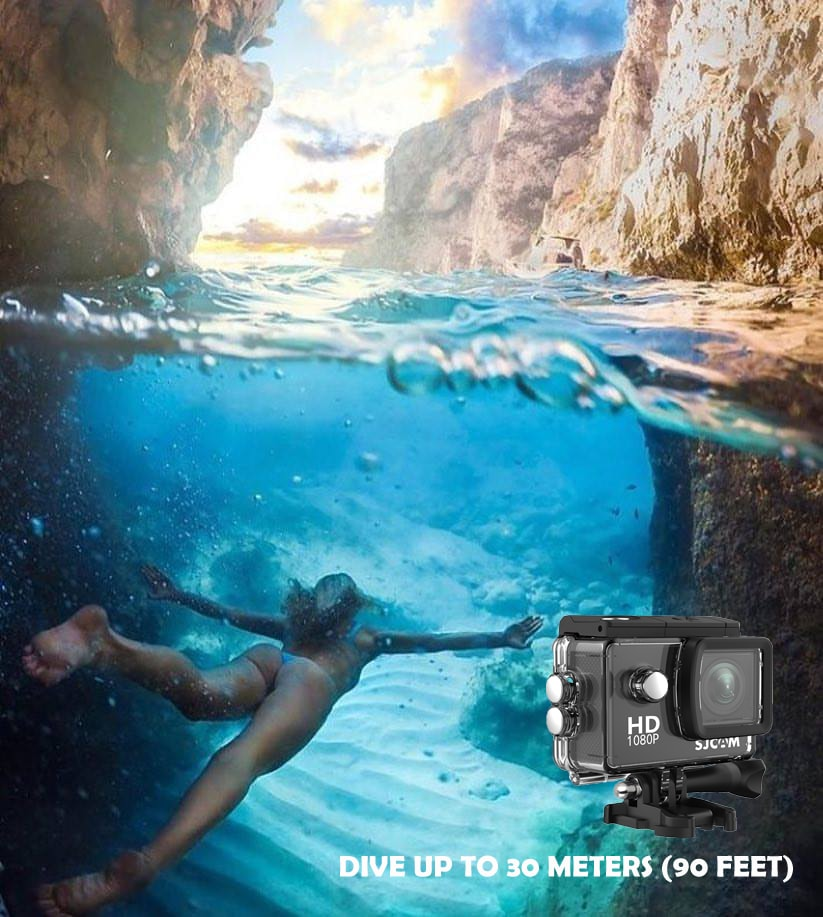 SJCAM SJ4000 WIFI Action Camera FHD1080P waterproof Underwater Camera 12MP Sports Camcorder Yellow - 5