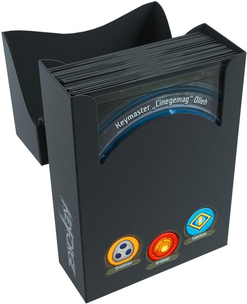 Pudełko na talię KeyForge - Aries Black Deck Box - Czarne - 4