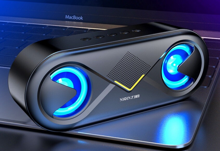 S6 Wireless Bluetooth Speaker Waterproof Portable Outdoor Loudspeaker, Black - 1
