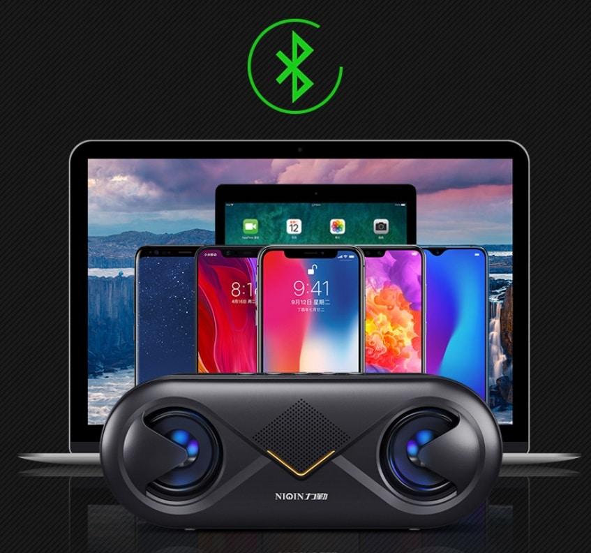S6 Wireless Bluetooth Speaker Waterproof Portable Outdoor Loudspeaker, Black - 9