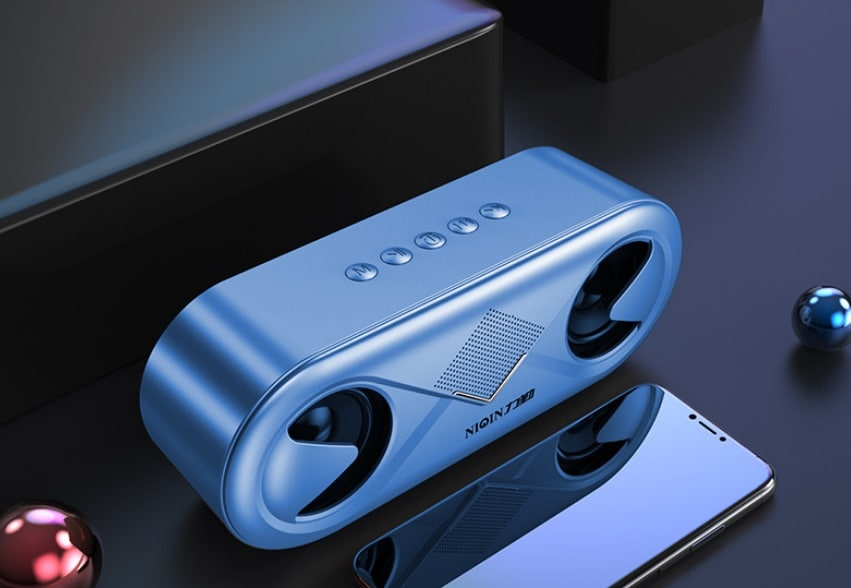 S6 Wireless Bluetooth Speaker Waterproof Portable Outdoor Loudspeaker, Blue - 1
