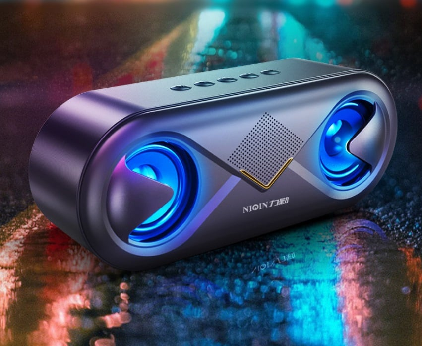 S6 Wireless Bluetooth Speaker Waterproof Portable Outdoor Loudspeaker, Black - 5