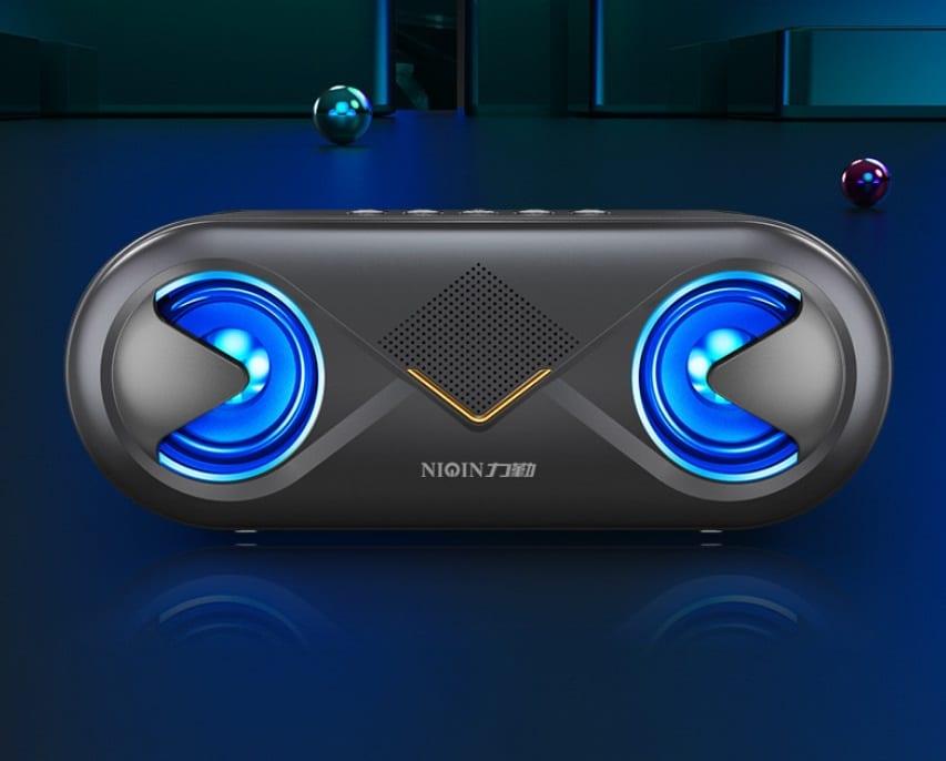 S6 Wireless Bluetooth Speaker Waterproof Portable Outdoor Loudspeaker, Black - 2