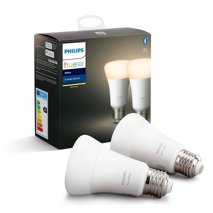 Philips Hue   Żarówka 2x E27 9W 806lm 2700K smart home - 1