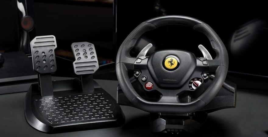 Thrustmaster Driving Wheel T80 Ferrari - GTB Edition (PC, PS4) - Black - 4