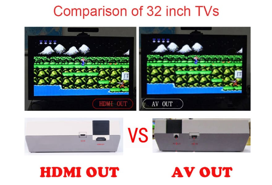 HDMI NES Mini Classic Edition Retro Video Games Console with 2 Controllers Built-in 600 Classic Nintendo Games - 3